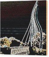 Melting Bridge Wood Print by David Alvarez