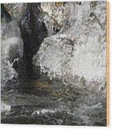 Melting Ice Wood Print