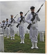 Members Of A Ceremonial Honor Guard Wood Print