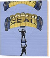 Members Of The U.s. Navy Parachute Wood Print