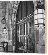 Memorial Hall Entrance Wood Print
