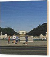 Memorial Plaza Of The World War II Wood Print by Richard Nowitz