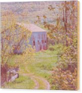Memories Of The Farm Wood Print