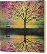Memory Over Water Wood Print
