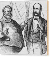 Men Drinking, 1872 Wood Print
