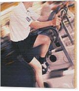 Men Exercising Wood Print