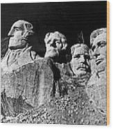 Men Working On Mt. Rushmore Wood Print