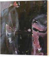 Menacing - He Waits For Dark For Her Wood Print