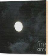 Menacing Moonlight Wood Print
