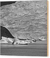 Mendenhall Glacier Bw Wood Print