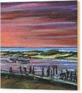 Menemsha Sunset Wood Print