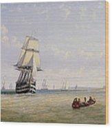 Meno War Schooners And Royal Navy Yachts Wood Print