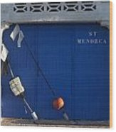 menorca st - A warehouse door in Es Castell Menorca ready to keep local tradicional boats llauts Wood Print