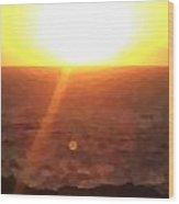 Menorca Sunrise Wood Print