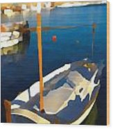 Menorcan Fishing Boat 2 Wood Print