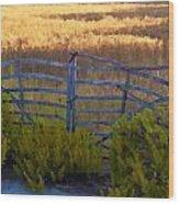 Menorcan Five Bar Gate Wood Print