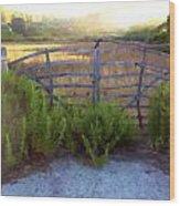 Menorcan Gate Wood Print