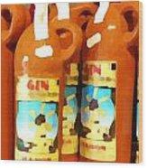 Menorcan Gin Wood Print