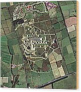 Menwith Hill Spy Base, Aerial Image Wood Print by Getmapping Plc