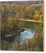 Meramec River Bend At Castlewood State Park Wood Print