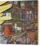 Mercantile Shop Wood Print