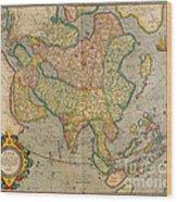 Mercators Map Of Asia Wood Print