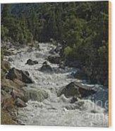 Merced River In Yosemite Wood Print by Tim Mulina