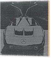 Mercedes Benz C IIi Concept Wood Print by Naxart Studio