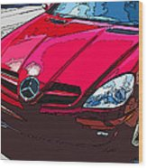 Mercedes Benz Slk Nose Study Wood Print by Samuel Sheats