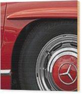 Mercedes Wheel Wood Print