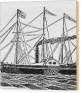 Merchant Steamship, 1838 Wood Print