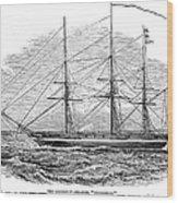 Merchant Steamship, 1844 Wood Print
