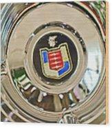 Mercury Wheel Emblem Wood Print
