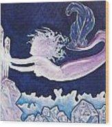 Mermaid Pink Wood Print