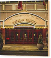 Merriam Theater Wood Print