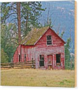 Merritt Farmhouse Wood Print