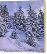 Merry Christmas And A Wonderful New Year Wood Print