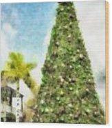 Merry Christmas Tree 2012 Wood Print