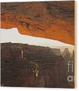 Mesa Arch First Light Wood Print