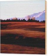 Mesa Morning Wood Print