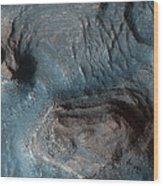 Mesas In The Nilosyrtis Mensae Region Wood Print