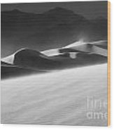 Death Valley California Mesquite Dunes 2 Wood Print