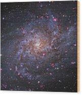 Messier 33, Spiral Galaxy In Triangulum Wood Print by Robert Gendler