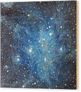 Messier 45 Pleiades Constellation Wood Print