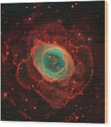Messier 57, The Ring Nebula Wood Print
