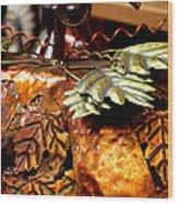 Metal Art 4 Wood Print by Karen M Scovill