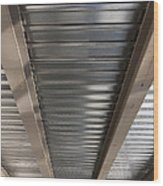 Metal Decking Over Structural Steel Wood Print