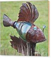 Metal Fish Wood Print