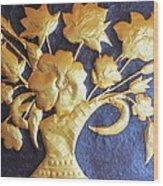Metal Flowers Wood Print by Rejeena Niaz