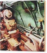 Metal Lathe In Submarine Wood Print